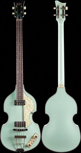 Hofner Custom Shop Violin Bass Vintage 62 Surf Green Bestbassguitar Guitar Tuners Bass Guitar Acoustic Guitar Case