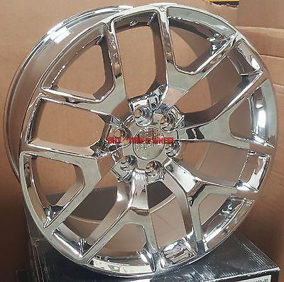 22 Wheels Tires Gmc Sierra Style Chrome Rims Denali Yukon Silverado Tahoe 24 In 2020 Chrome Rims Gmc Sierra Silverado