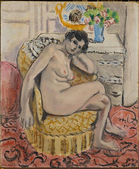 Nude in an Armchair (Nu au fauteuil)  Henri Matisse (French, Le Cateau-Cambrésis 1869–1954 Nice)