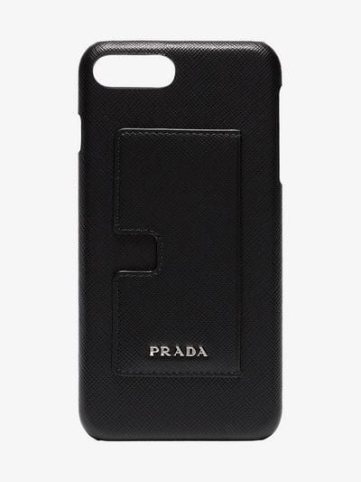 3948f92ef5 Black logo leather iphone 8 Plus case with card holder | MiX ...