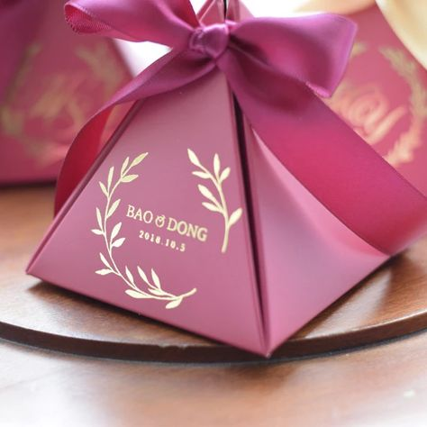 Candy Bag Bows Paper Bows Cards Decor 50 Burgundy Pre-Tied Double Bows for Gift Wrapping  Wedding Cake Bags  Candy Buffet Bags