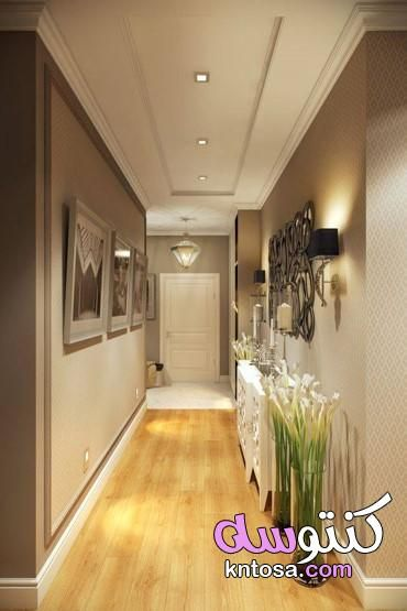استغلال الممرات في المنزل House Ceiling Design Corridor Design Foyer Design