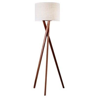 63 Brooklyn Floor Lamp Walnut Adesso In 2020 Floor Lamp Lamp Tripod Lighting