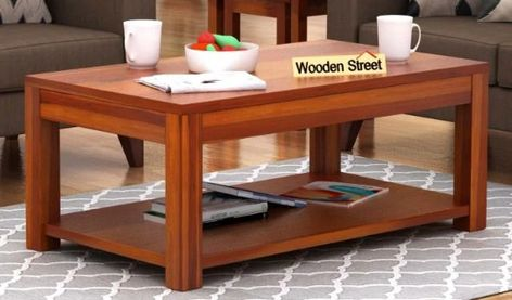 Buy Wilma Center Table Honey Finish Online In India Center