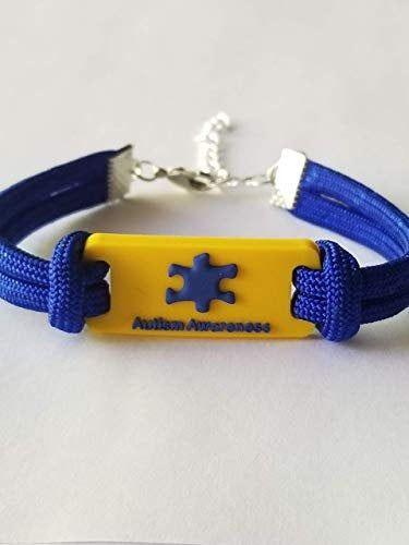Autism Bracelet Autism Id Bracelet Blue Or Pink Paracord Bracelet Autism Mom Autism Dad Gift Autism Awareness Bracelet Autism Bracelets Autism Mom Bracelet