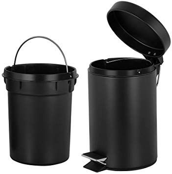 Round Mini Trash Can With Lid Soft Close And Removable Inner Wastebasket Bathroom Trash Can With Stainless Bathroom Trash Can Trash Can Waste Basket