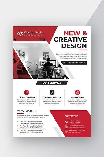 Modern Red Corporate Business Flyer Template With Images Graphic Design Flyer Business Flyer Templates Graphic Design Marketing