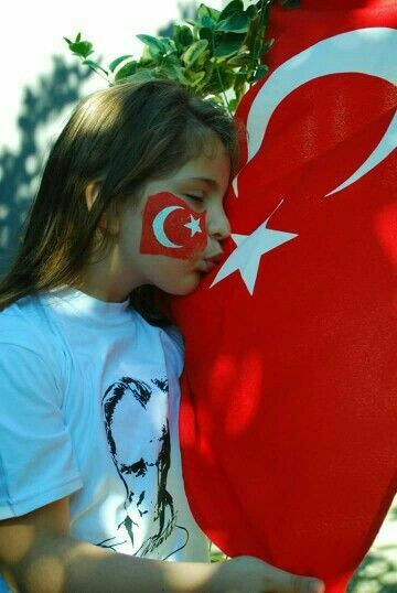 Yuz Boyama Turkler Turkiye Bayrak