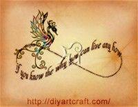 Araba Fenice Sul Simbolo Dell Infinito Con Frase Tatuajes Infinito