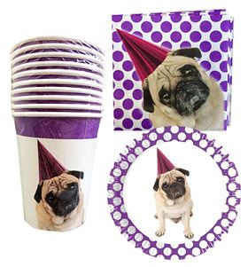 Pug Party Set Available At Www Ilovepugs Co Uk 10 X Paper Plates