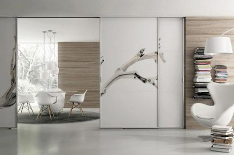 Glazed Aluminium Sliding Double Door Full Height