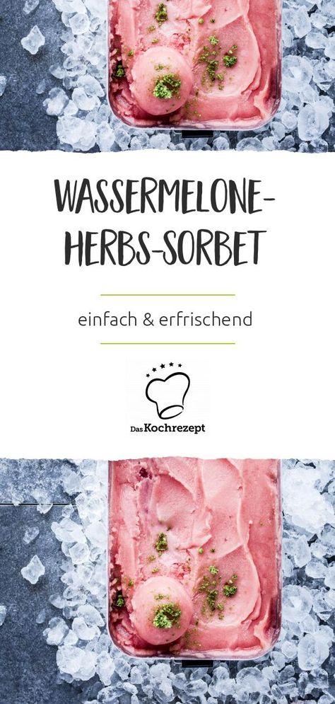 Wassermelone-Herbs-Sorbet