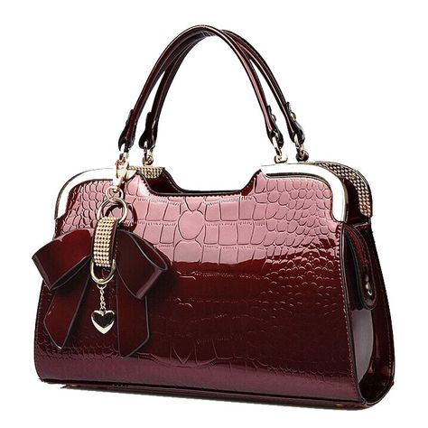 a2a1d37fdc0b women genuine patent leather handbags crocodile crossbody shoulder bag  ladies handbag luxury tote desigual messenger bags Bolsas