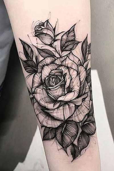 35 Beautiful Rose Tattoo Ideas For Women In 2020 White Rose Tattoos Black And White Rose Tattoo Tattoos