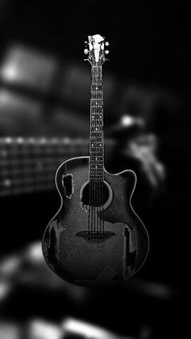 Black Guitar Dark Phone Wallpapers Ultra Hd 4k Wallpaper Black Wallpaper