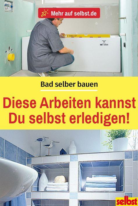 Bad selber bauen   Badezimmer bauen, Bad und Badezimmer planen