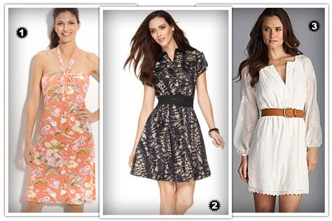 Dresses with A-line or flared skirts look fabulous on pears