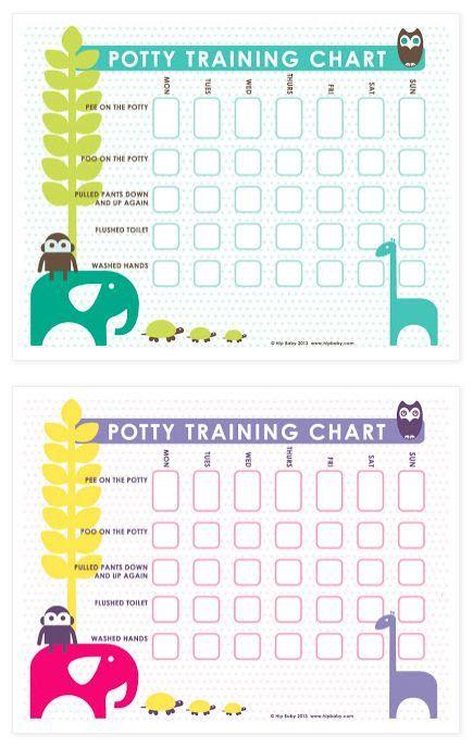Free Printable Potty Training Charts   Pinteres