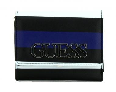 promo code e8519 37c71 gestreiftes Portemonnaie Guess Felix Überschlag schwarz weiß ...
