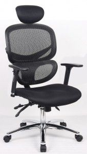 VAT) Simplicity Mesh Office Posture Padded Air Mesh Seat Mesh Back  Adjustable Back With Lumbar Support Height Adjustable Arms Tilting Headrest