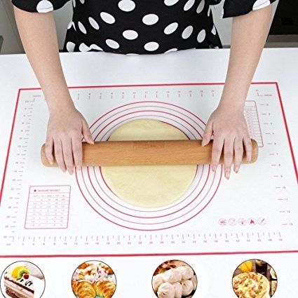 Zching Silicone Pastry Mat With Measurement Not Slip Rolling Dough