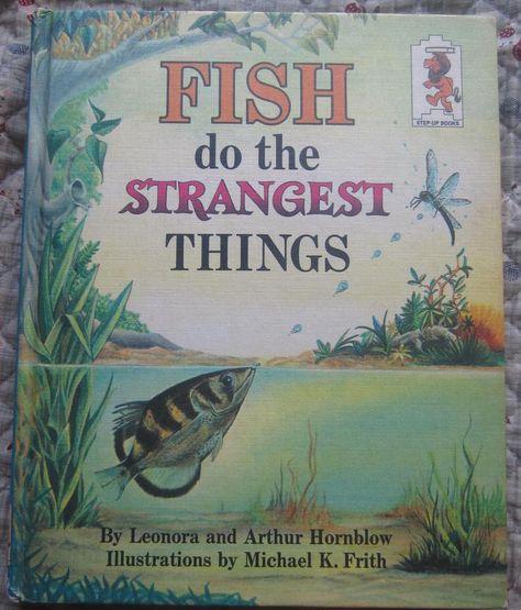 Fish Do The Strangest Things Leonard And Arthur Hornblow Etsy Vintage Children S Books Kids Book Strange