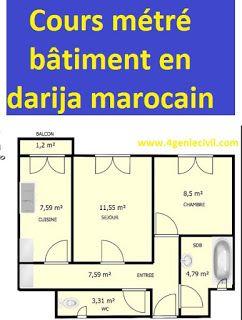 Metre Batiment Cours En Dialecte Marocain 11 Videos Genie Civil Cours Genie Civil Planning Chantier