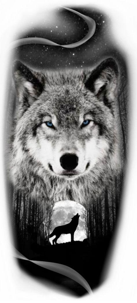 58 Ideas For Tattoo Wolf Moon Wolf Tattoos Wolf Tattoo Sleeve Wolf And Moon Tattoo