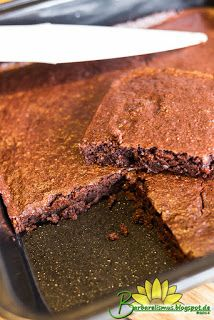 Vegan Double Chocolate Sunflour Brownies Doces Veganos Veganos