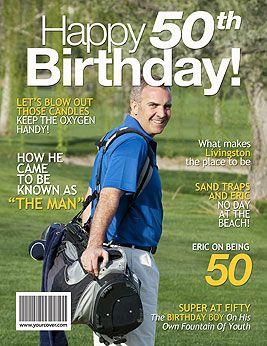 50th Birthday Personalized Fake Magazine Cover 50th Birthday Unique 50th Birthday Gifts Birthday