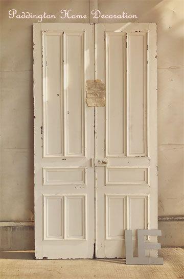 お屋敷のフレンチペアパネルドア パディントン アンティーク家具