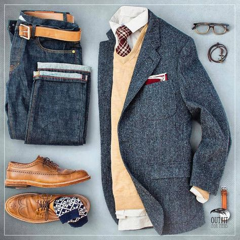 casual mens fashion which look great. Komplette Outfits, Casual Outfits, Fashion Outfits, Mens Fashion, Outfits For Men, Fashion Vest, Gq Style, Mode Style, Business Casual Men