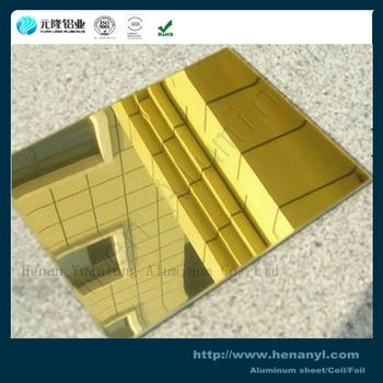 Aluminum Mirror Sheet For Lamps And Solar Panel Alucobond Aluminum Solar Panels