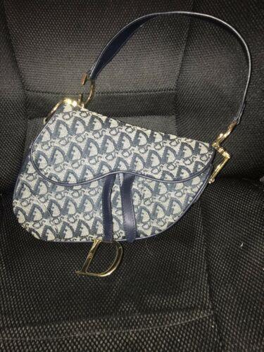 Vintage Denim Christian Dior Saddle Bag Dior Saddle Bag Leather Saddle Bags Black Saddle Bag