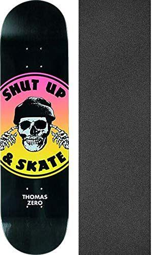 Zero Skateboards Jamie Thomas Shut Up Skate 2 Tone Black Yellow Pink Skateboard Deck 8 X 31 4 With Mob Grip Perfo Skateboard Decks Skate Zero Skateboards