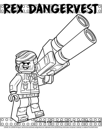 Coloring Page Rex Dangervest True North Bricks Lego Coloring Pages Lego Coloring Coloring Pages