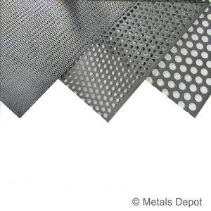 Metalsdepot Buy Perforated Steel Sheet Online Perforated Metal Steel Sheet Perforated