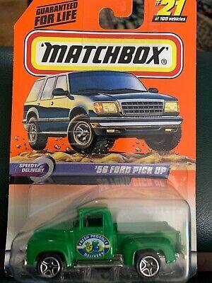 Matchbox 21 1956 Ford Pickup Green Truck Speedy Delivery Series 5 Ebay 1956 Ford Pickup Ford Pickup Matchbox