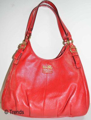 aeffb5f96c0f7 Nwt Coach Madison Gathered Leather Sophia Handbag 18620 Raspberry Red