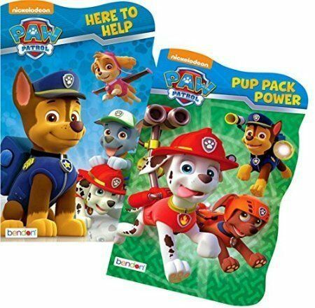 2 Shaped Books Paw Patrol Board Book Set