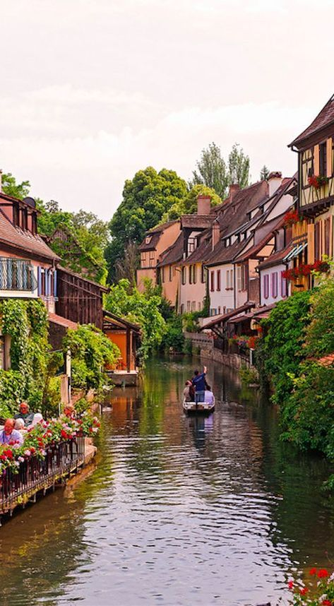 Tourists know Colmar (France) as the capital of Alsatian wine an ultra-classy white variety. They also know Colmar for its quaint canals. Long ago the canals in Colmars Little Venice were buzzing with butchers fishmongers and tanners. #style #shopping #styles #outfit #pretty #girl #girls #beauty #beautiful #me #cute #stylish #photooftheday #swag #dress #shoes #diy #design #fashion #Travel