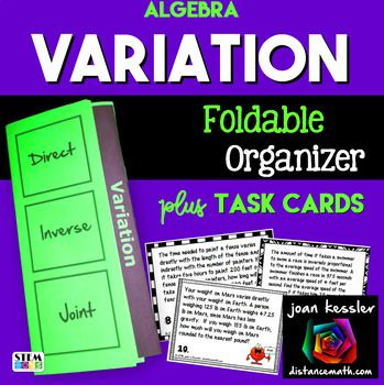 Direct Inverse And Joint Variation Foldable And Task Cards With