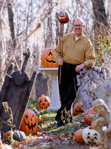 Vintage halloween door decorations