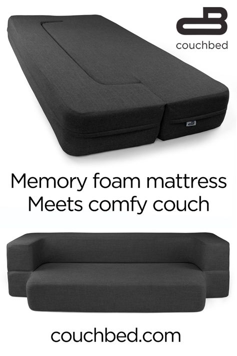 The comfort of a cool-gel memory foam mattress, and the functionality of 2 pieces of furniture.  The CouchBed is a great choice for apartments, first homes, play rooms, dorm rooms, man caves and more!