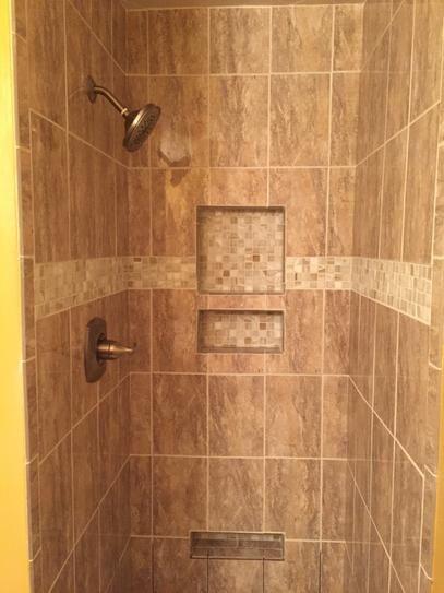 Tile Redi Redi Niche Shampoo Soap Niche 16 In W X 6 In H X 4 In D Standard Single Niche Rn166s Bi The Home Depot Tile Ready Shower Niche Shower Niche Shower Tile