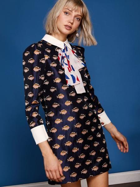 Oceans Deep Rabbit Dress | Anna Larsen - Vintage Vixen in