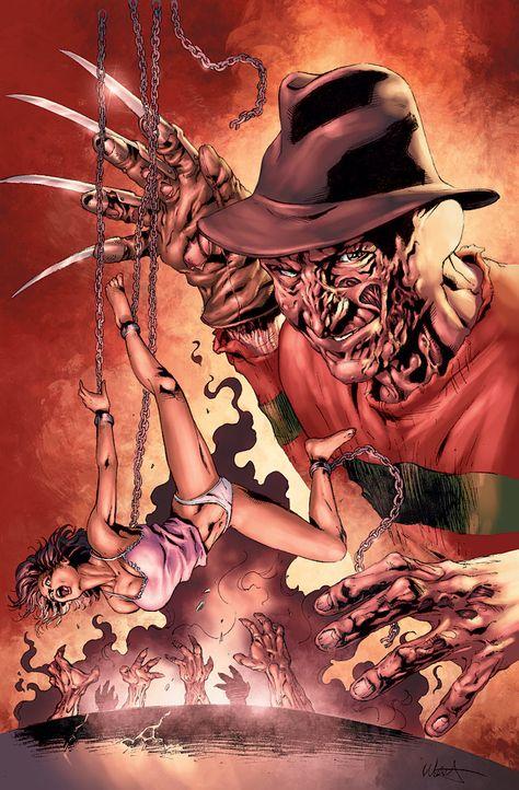 A NIGHTMARE ON ELM STREET #2. #Freddy #Kruger #Nightmare #Elm #Street #Horror #Classic #Knives #For #Fingers