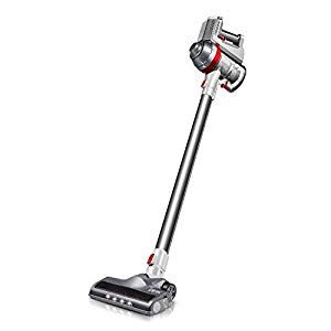 Deik Cordless Vacuum Cleaner Stick And Handheld Vacuum With Powerful Suction Wall Mount Silver Best Cordless Vacuum Cordless Vacuum Vacuum For Hardwood Floors