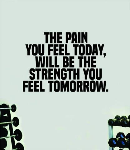 (1) Pain Today Strength Tomorrow Quote Wall Decal Sticker Vinyl Art Home D – boop decals