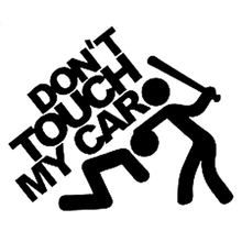 15 cm * 12,5 cm Don't Touch My Car Sticker JDM Slammed Funny